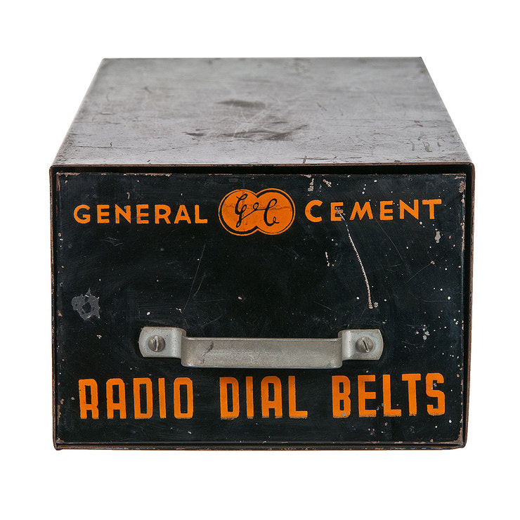 General Cement Radio Dial Drawer