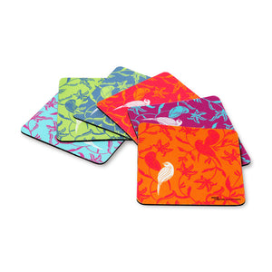Chirping Birds Coasters Set Of 6