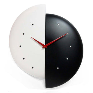 Half Time Clock Black And Red
