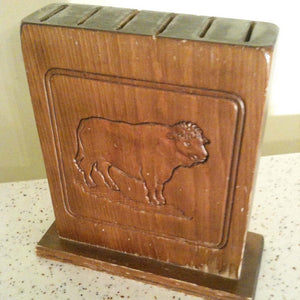 Folk Art Knife Block