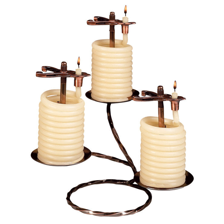 36 Hour Round Table Candle 3Pc