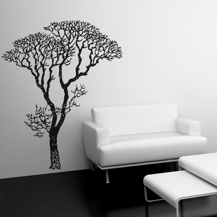 Bare Tree 68x84 Black