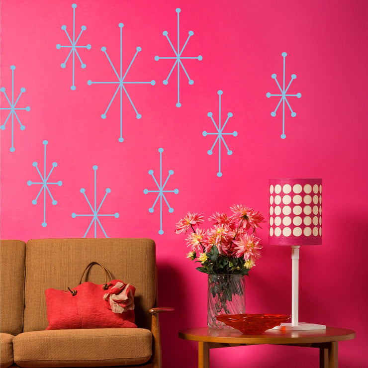Atomic Wall Decal Set Ice Blue