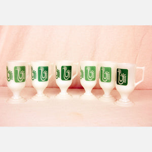 Coffee Cups With Mod Chicks 6Pc