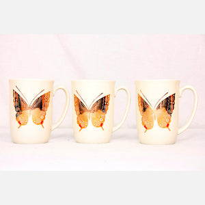 Butterfly Coffee Cups Set Of 3