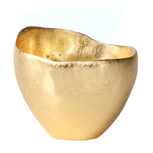 Gold Leaf Freeform Bowl