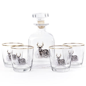 Deer Decanter 5 Piece Set