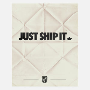 Just Ship It Clingprint White