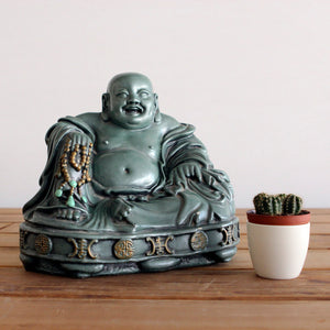 Happy Laughing Buddha Teal