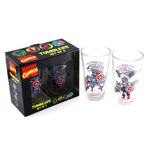 Captain America Pint Glass 2Pc