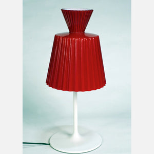 Katerina Table Lamp White Red