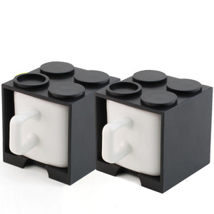 Cube Mug Mini Black Set Of 2