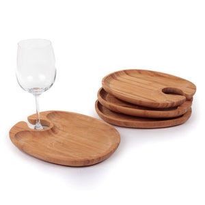 Bamboo Personal Serving Tray 4pk