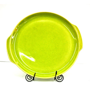 Ceramic Platter Lime Green