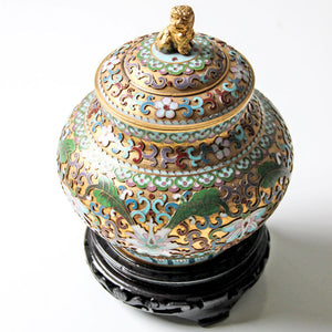 Enameled Ginger Jar
