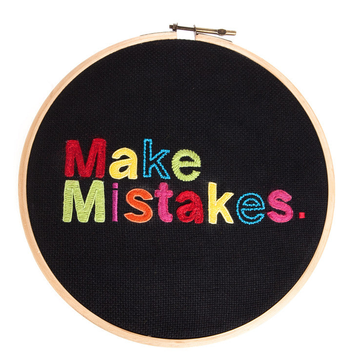 Embroidered Make Mistakes