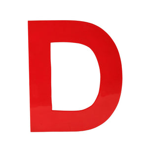 Enamel Letter D Red