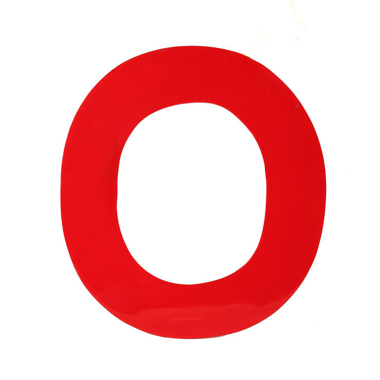 Enamel Letter O Red