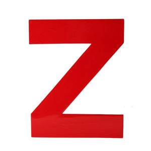 Enamel Letter Z Red