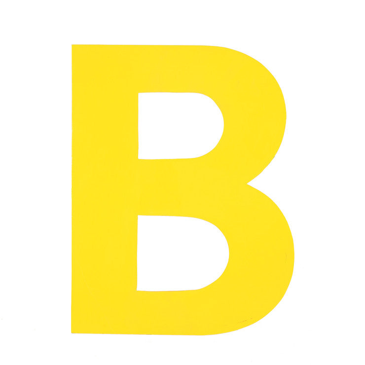 Enamel Letter B Yellow