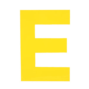 Enamel Letter E Yellow