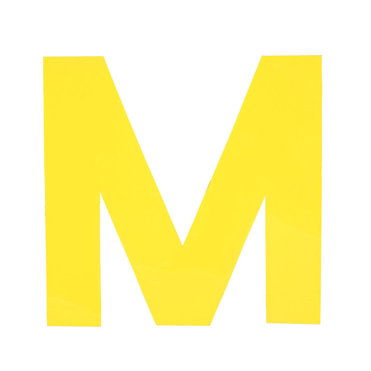 Enamel Letter M Yellow
