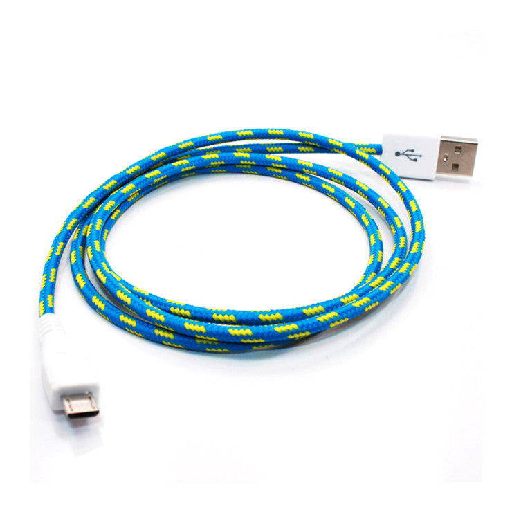 Micro USB Cable Cross Stripe