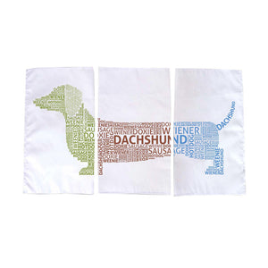 Dachshund Tea Towel 3 Pack