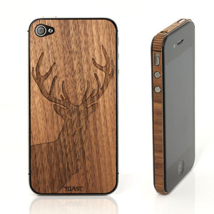iPhone 4/4S Stag Walnut Set