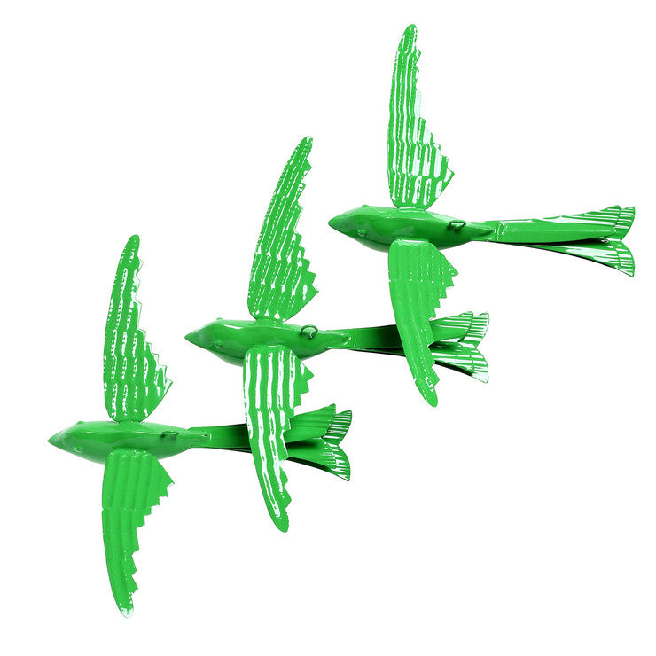 Hanging Bird Green Set Of 3