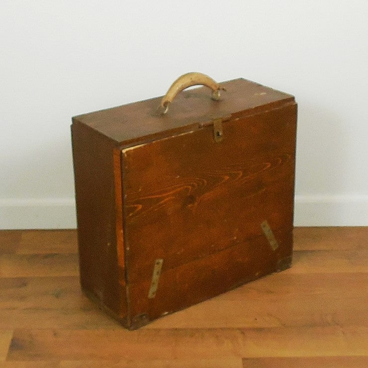 Handmade Wood Crate Suitcase