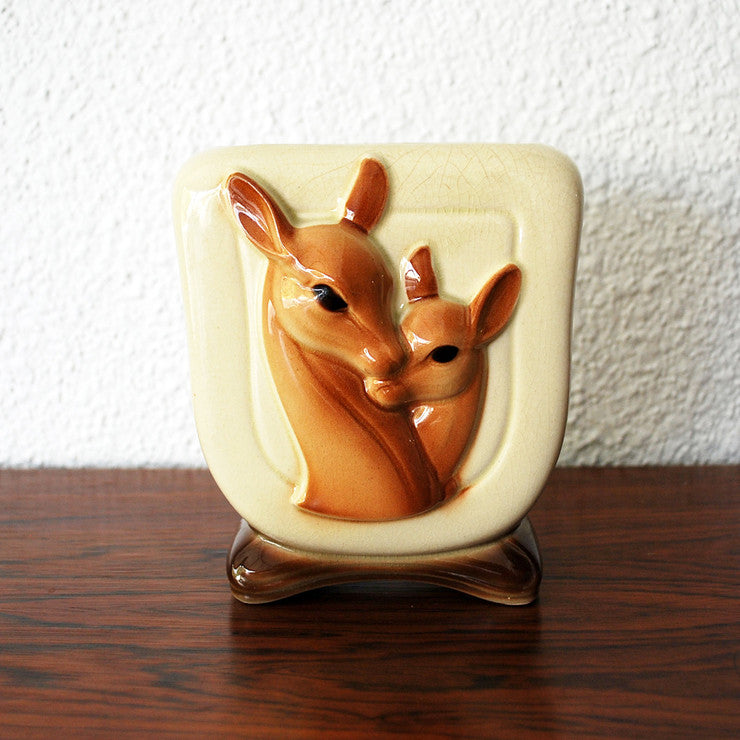 Mother And Fawn Footed Planter