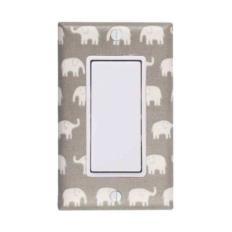 Elephant Rocker Plate Gray
