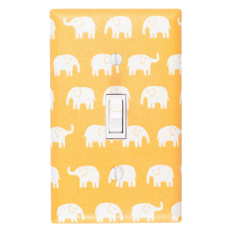 Elephant Switch Plate Yellow