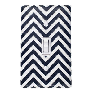 Chevron Switch Plate Black White