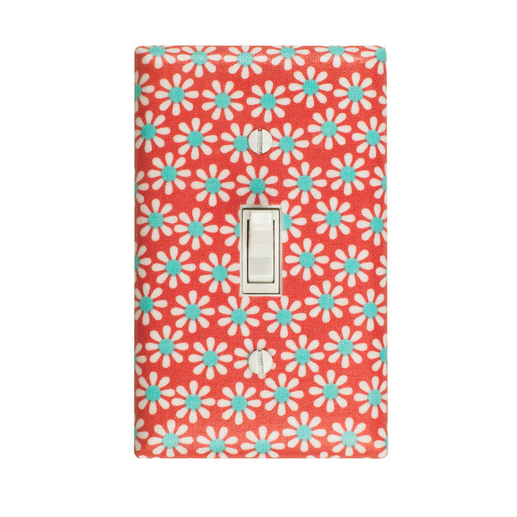 Daisy Switch Plate Coral