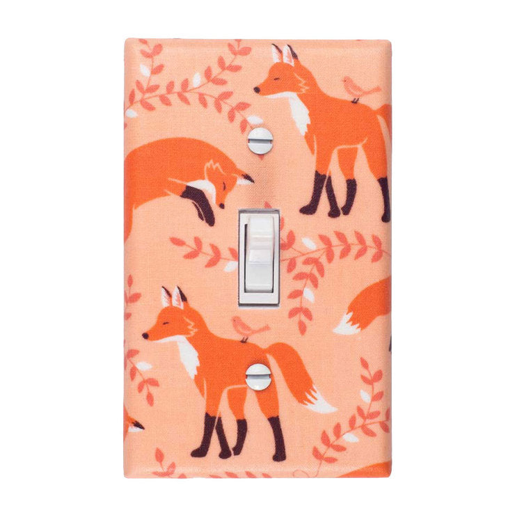 Fox Switch Plate Peach