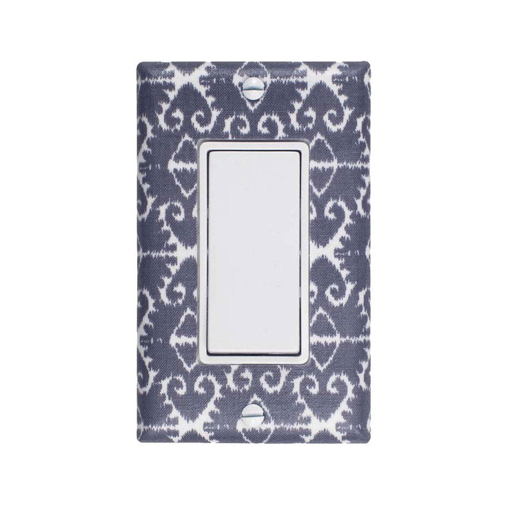 Ikat Rocker Plate Gray