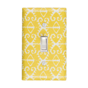 Ikat Switch Plate Citron