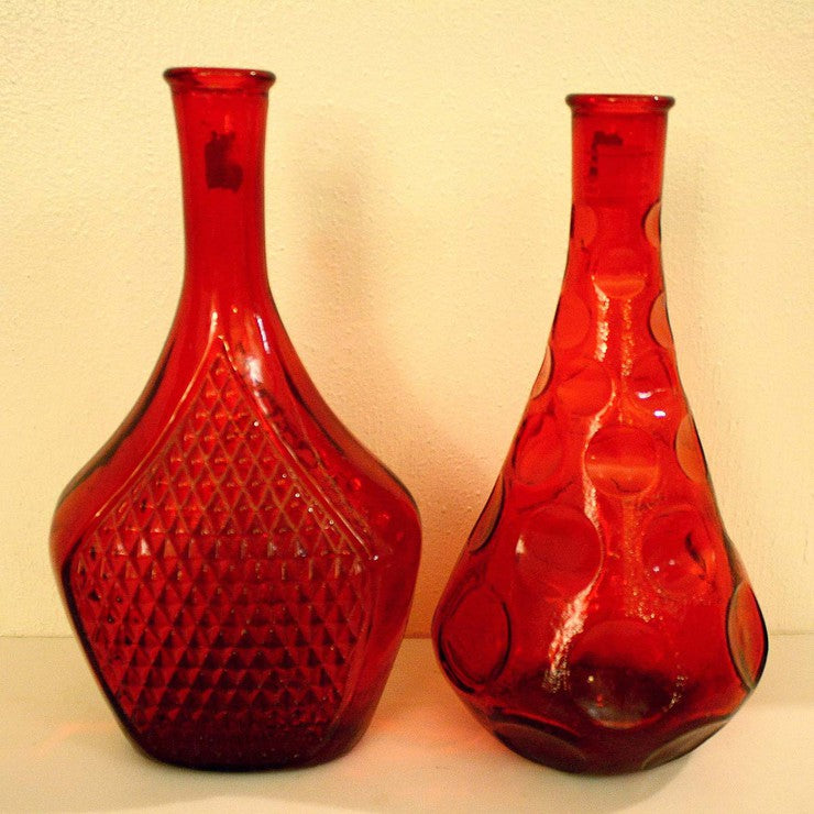 Italian Glass Decanters Pair