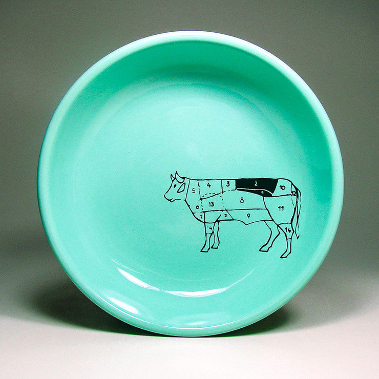 Beef Map Lo Bowl Blue Green