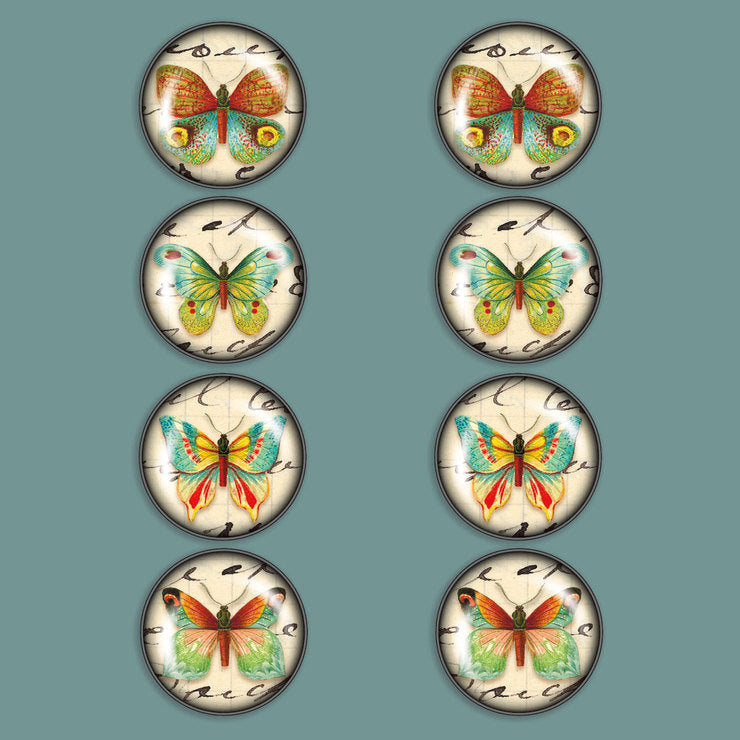 Butterfly Magnet Set Of 8