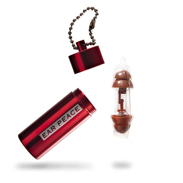 Brown Plugs & Red Case - 2 Pack
