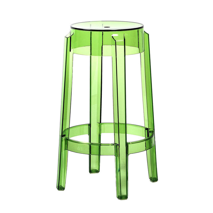Charles Ghost Counter Stool Grn