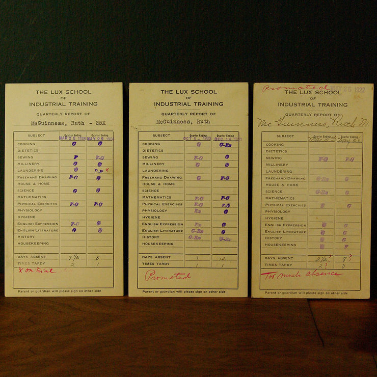 1920s Report Card Trio I