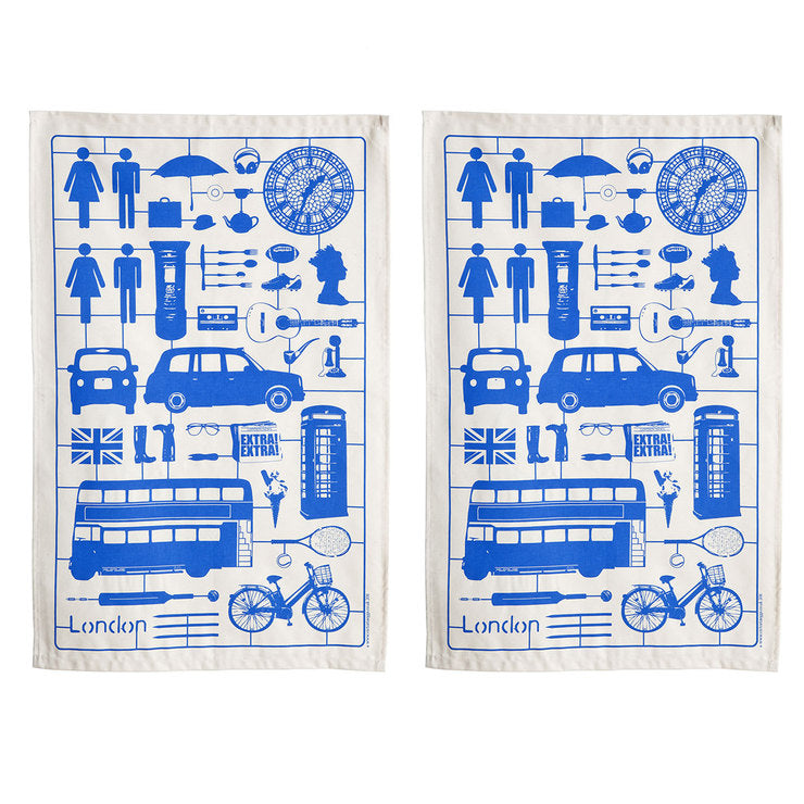 Airfix London Tea Towel Blue