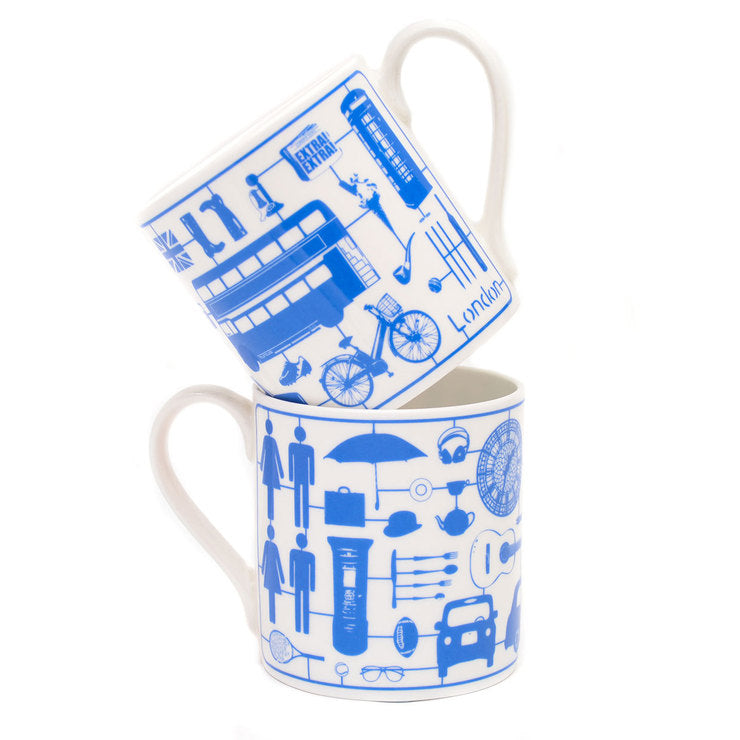 Airfix London Mug Blue 2Pc