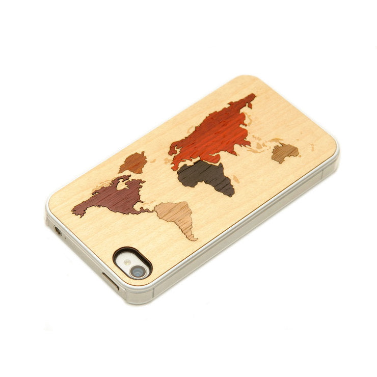 iPhone 4/4S Case World Map Clear
