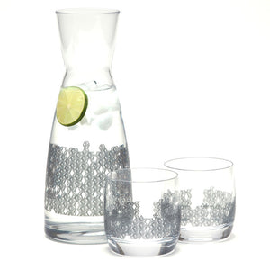 Cube It Carafe And Glasses 3Pc