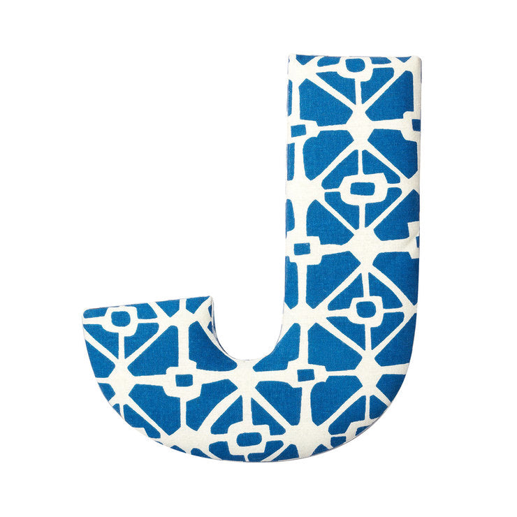 Fabric Letter J Blue